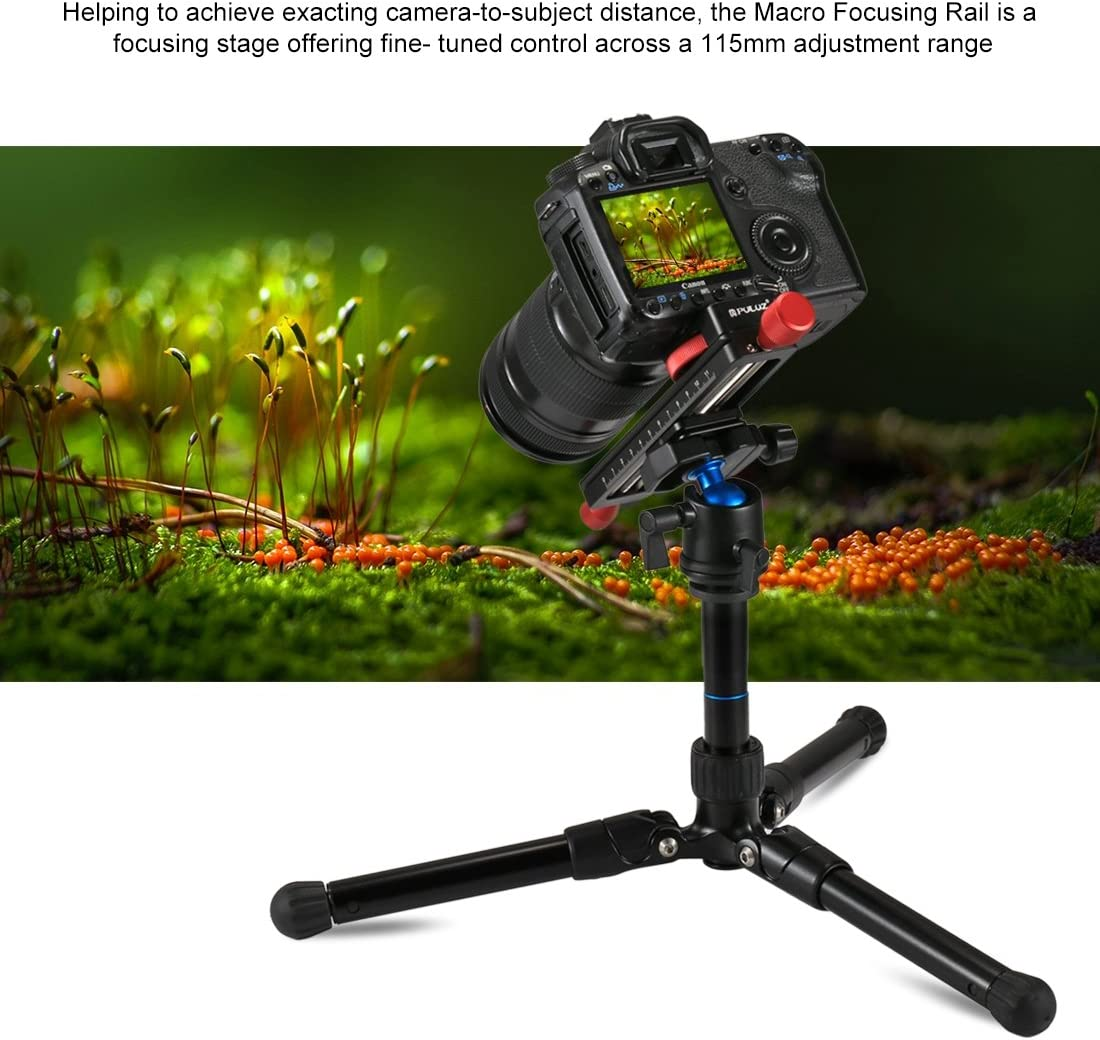 Camera /& Photo Products Macro Focusing Rail Slider Close-up Shooting Tripod Head Quick Release Plate Holder