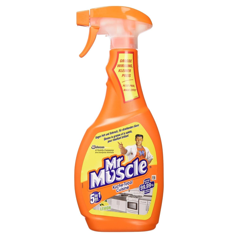 Mr Muscle 681083 500ml Líquido (listo para usar) - Limpiador (Líquido (listo para usar), Vaporizador, Limón, Aluminio, Cerámico, Acero inoxidable, 15 min, ...