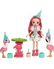 Enchantimals Party-Flamenco, muñeca con accesorios (Mattel FCG79)