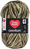 Red Heart Comfort Yarn, Light Camo Print Medium Met Wt 12 oz 649yds