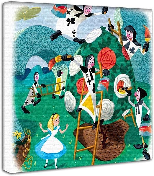 Amazon ディズニー 不思議の国のアリス アートパネル 30cm 30cm 日本製 ポスター おしゃれ インテリア 模様替え リビング 内装 キャラクター イラスト カラフル ファブリックパネル Dsn 09 インテリア オンライン通販