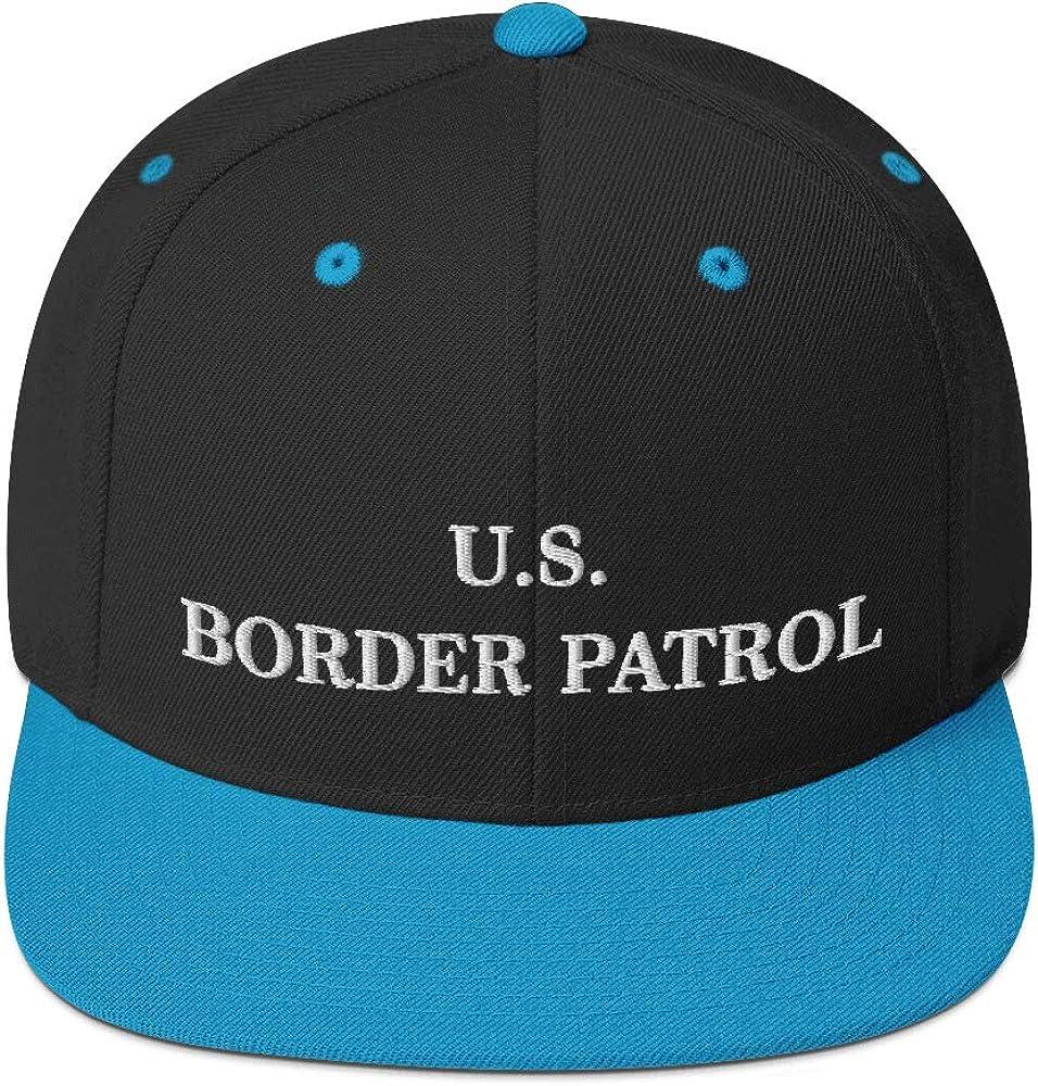 Hogue WS LLC US Border Patrol Hat (Embroidered Wool Blend Snapback Cap) Dept Homeland Security