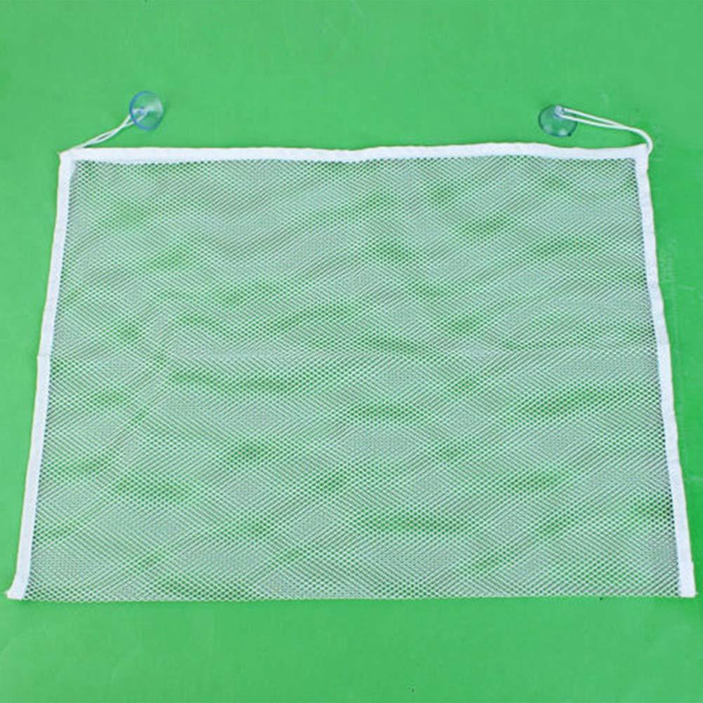 wei/ß STOBOK 35x45 cm multifunktions Premium badewanne Spielzeug Organizer badespielzeug aufbewahrungsbeutel Bad Produkt lagerung mit Haken