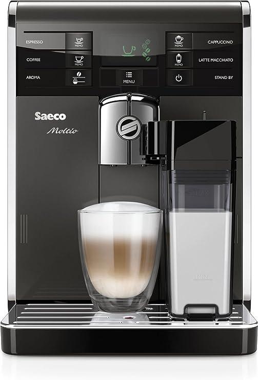 Saeco Moltio HD8869/47 - Cafetera (Independiente, Máquina espresso, 1,9 L, Molinillo integrado, 1850 W, Negro, Plata, Acero inoxidable): Amazon.es: Hogar