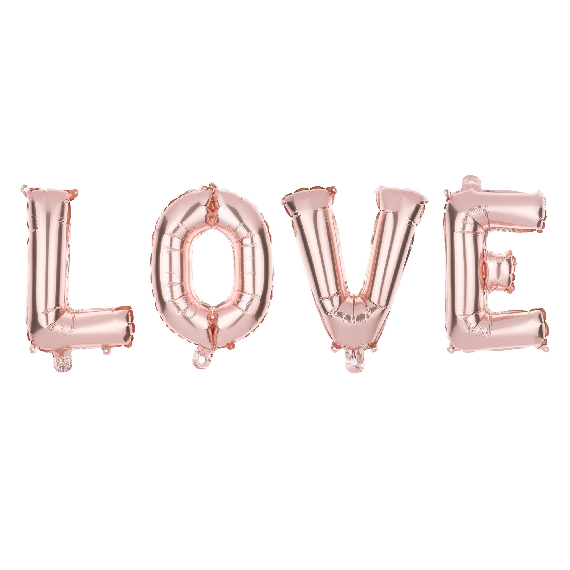 Ella Celebration LOVE Letter Balloons, Giant Balloon Letters, 25 Inch Wedding Decorations (Rose Gold, 25 Inch)