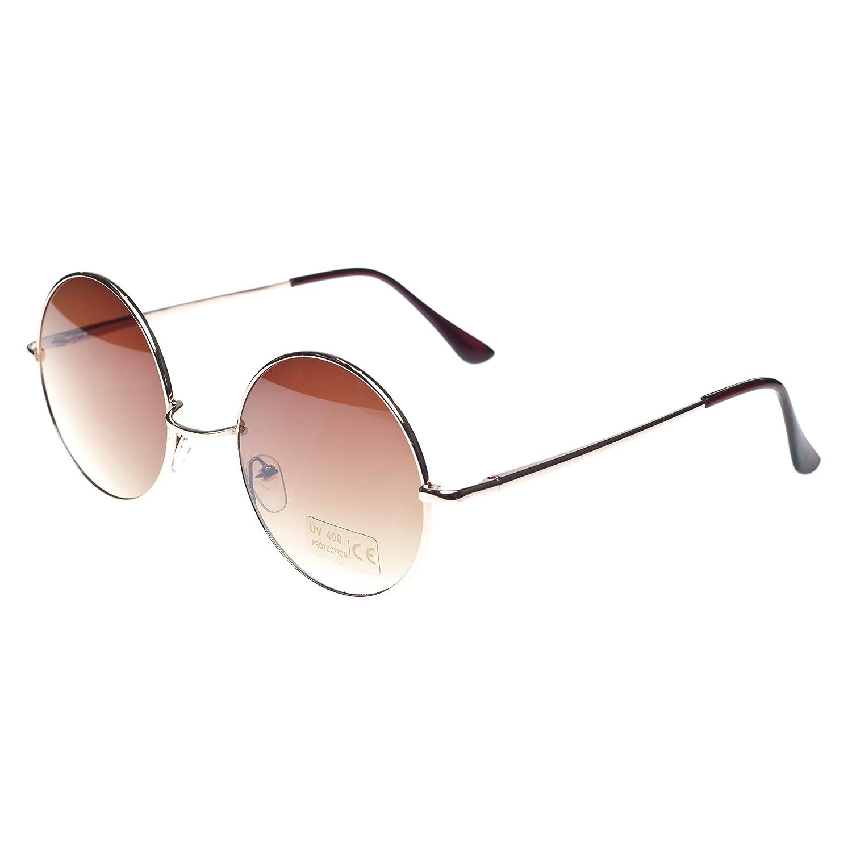 Cyber ronde John Lennon glasses miroir goggles de soleil des Lunettes de Steampunk Antique Copper qvr4q