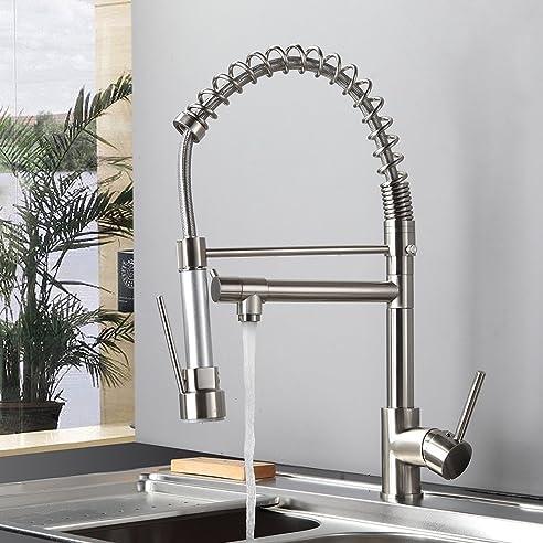 Gimili Spültischarmatur Spiralfeder Waschbecken Wasserhahn Küche