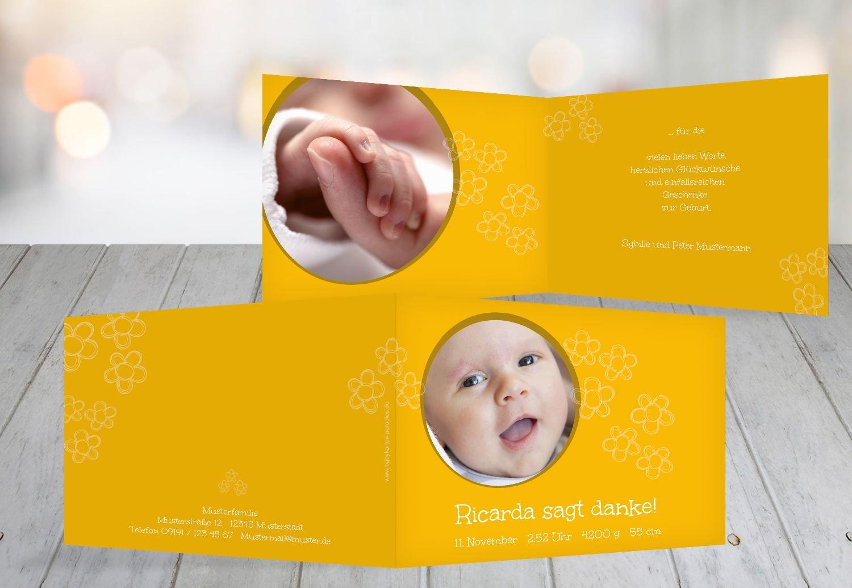 Kartenparadies Danksagung für Geburt Baby Dankeskarte Blüten, hochwertige Danksagungskarte Baby inklusive Umschläge   100 Karten - (Format  148x105 mm) Farbe  Hellbraun B01N6WW0BH | Attraktive Mode  | Verschiedene Stile und Stile  | Komfo