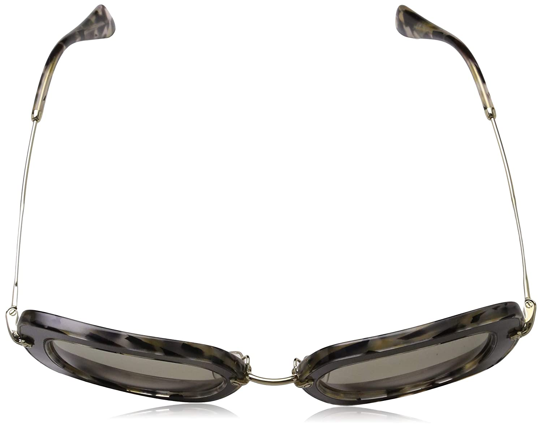 Print Noir Square Sunglasses Lens Category 1 Si Miu Miu MU07OS DHE-3H2 Silver