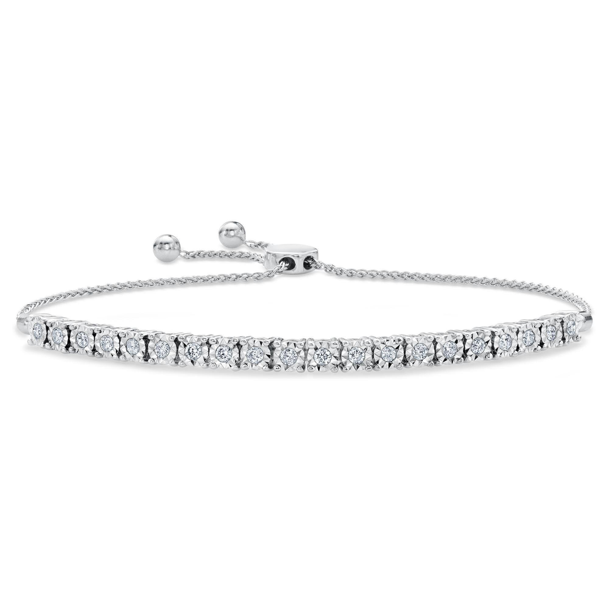 Diamond Bolo Bracelet 1/2ctw