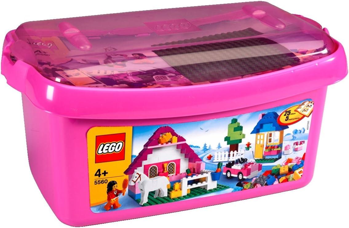 LEGO 5560 - Caja Rosa Grande de Bloques: Amazon.es: Juguetes y juegos