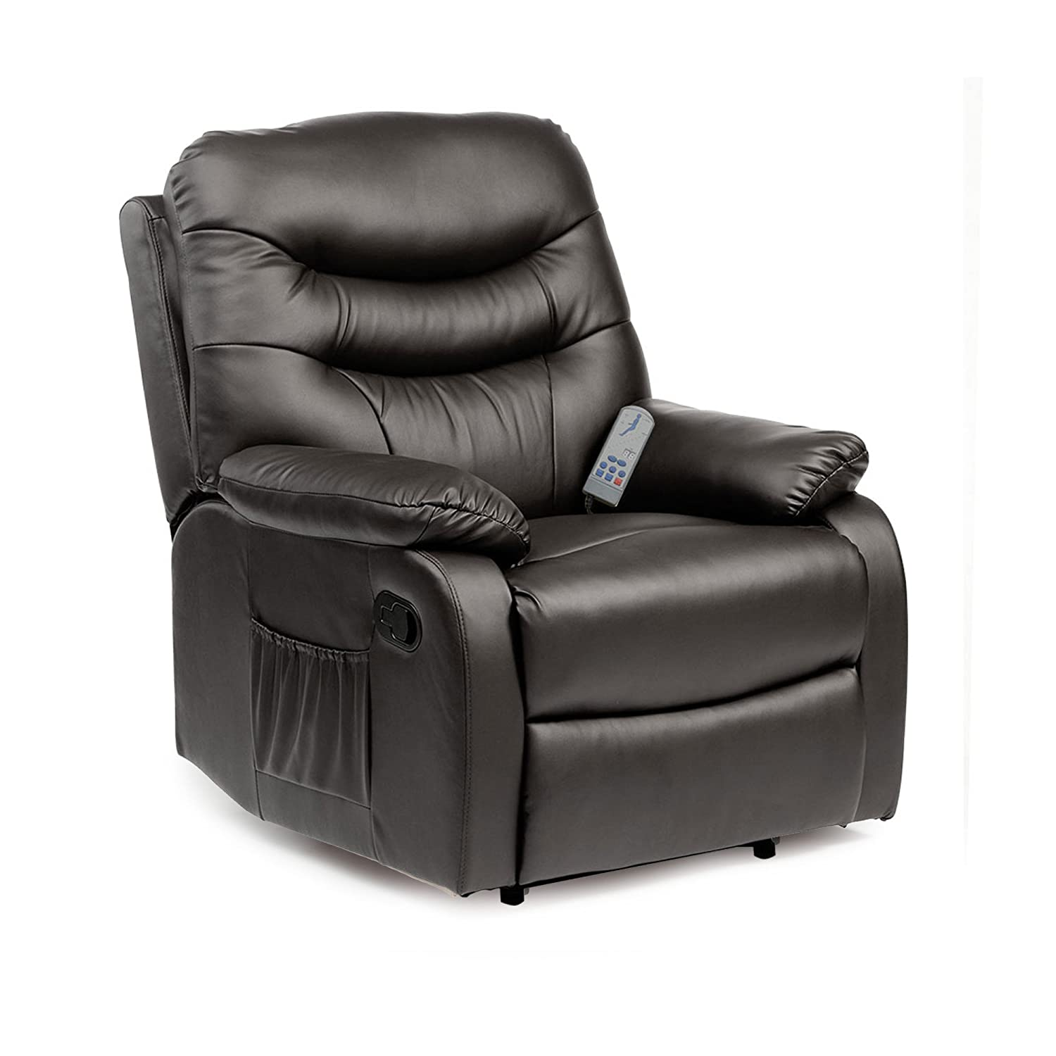 Hebden Massage Manual Reclining Chair (Black) Amazon.co.uk Kitchen u0026 Home  sc 1 st  Amazon UK : leather reclining chairs uk - islam-shia.org