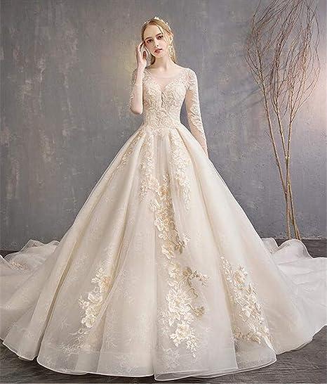 Vestito Da Sposa Western.Abito Da Sposa Per La Sposa Western Style Long Section Trailing