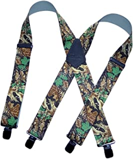 product image for American Made Holdup Brand Advantage Pattern Camouflage X-back Suspenders with Patented Jumbo No-slip Center pin Clips