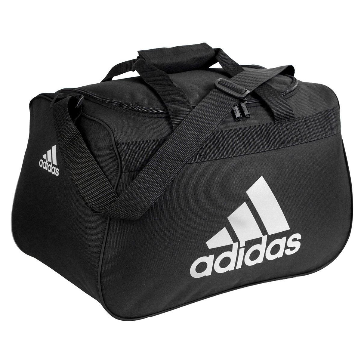 50acc4b6e8f8 Galleon - Adidas Diablo Small Duffel Bag - Black White