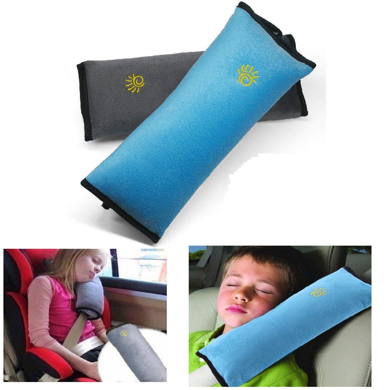 Auto Sicherheitsgurt Autositz Kopfkissen G/ürtel Pillow Schulterschutz Blau /& Rosa 2 St/ück Gurtpolster Schlafkissen Nackenst/ütze f/ür Kinder