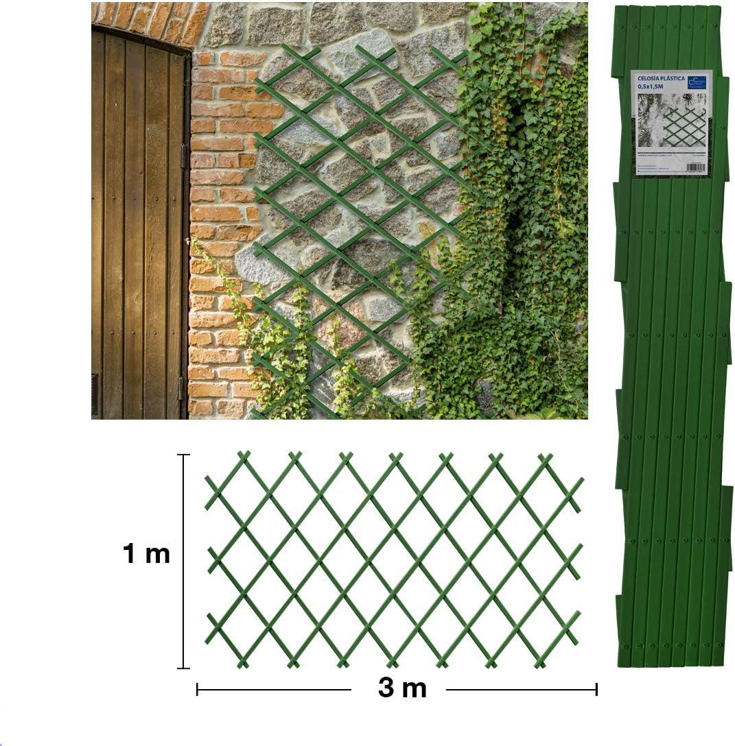 Comercial Candela Celosia Extensible Plastica Color (1x3 Metros, Verde): Amazon.es: Jardín