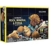 Tronet Rock & Mineral Collection Activity Kit –Includes Geodes, Real Fossils, Rose Quartz, Jasper, Aventurine & Many…