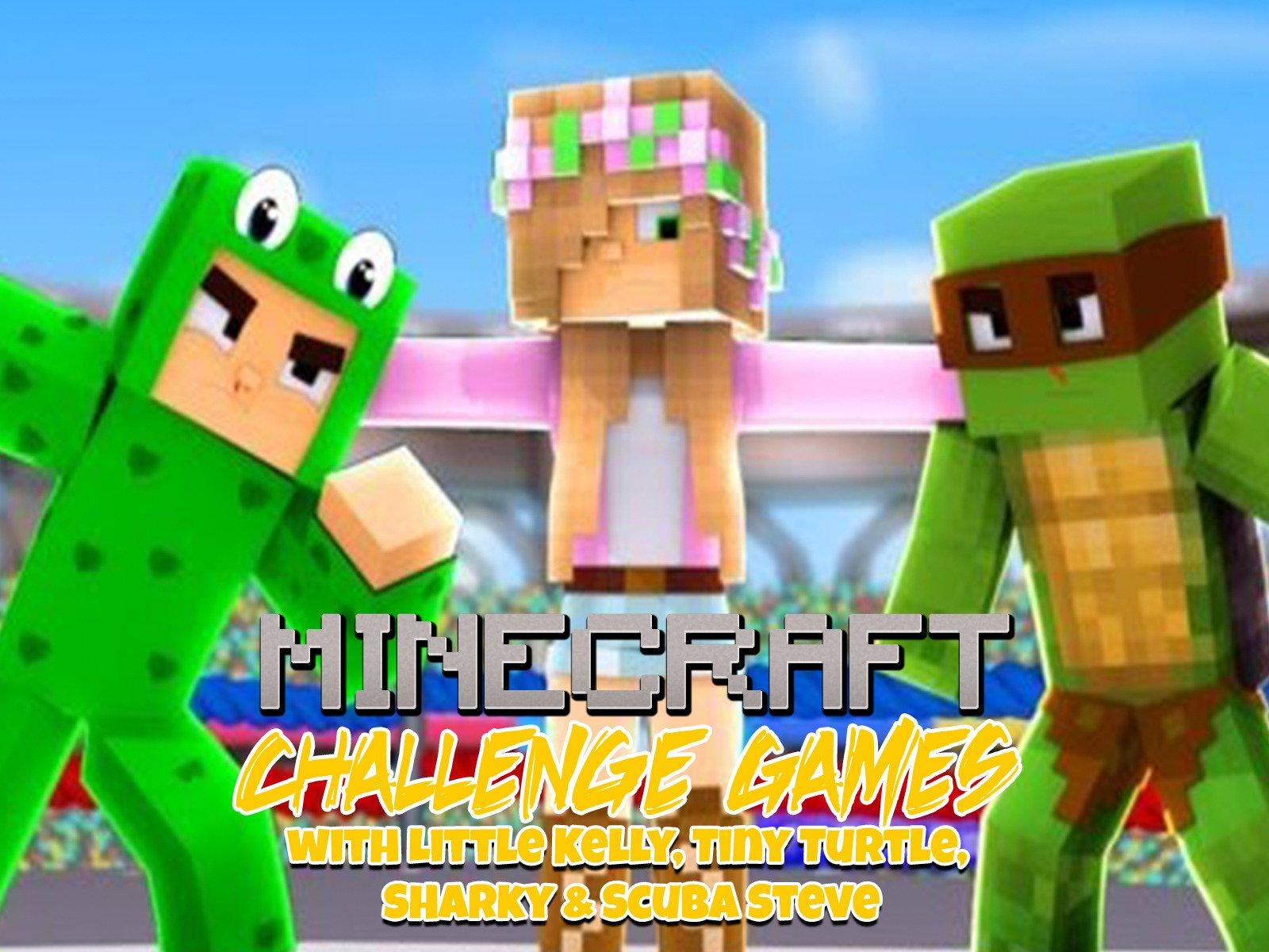 Clip: Challenge Games Minecraft with Little Kelly, Tiny Turtle, Sharky & Scuba Steve - Season 3