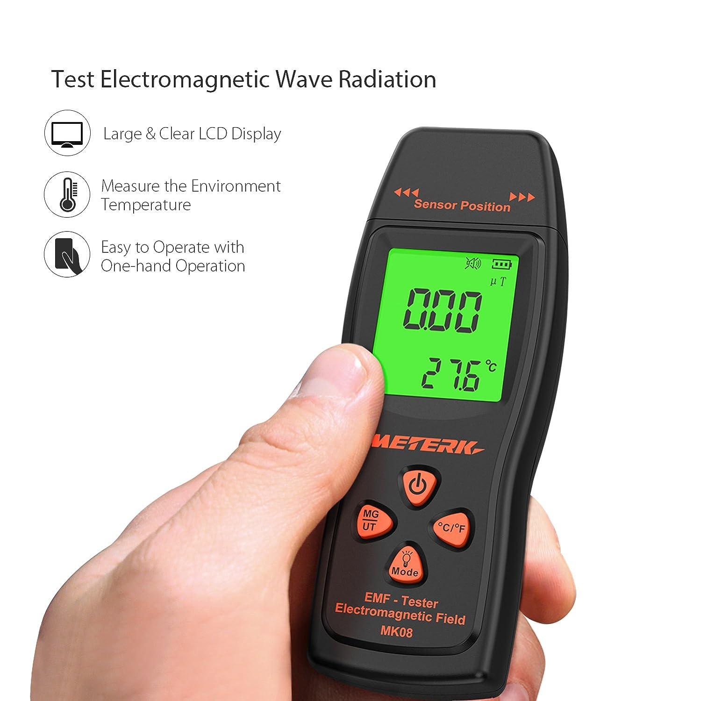 Meterk Emf Meter Electromagnetic Field Radiation Detector Handheld Operation Circuit And Specific Mini Digital Lcd Dosimeter Tester Counter Industrial