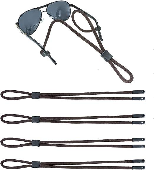 Eyeglass Holder-Sports Glasses Anti-Slip Rope 4 Pcs Adjustable Sunglasses Strap