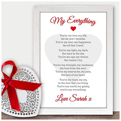 Personalised Wedding Any Anniversary Poem Gift For Husband Wife