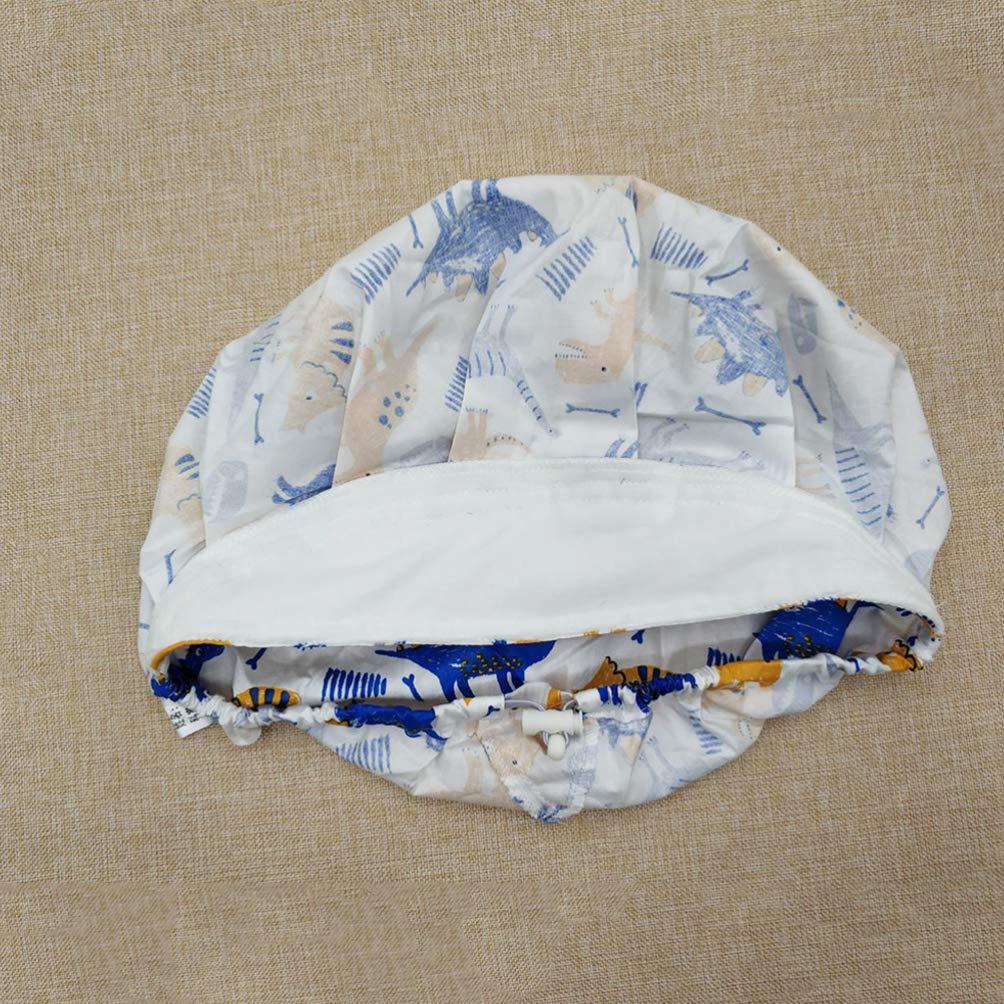 FENICAL Surgical Scrub Cap Adjustable Dinosaur Printed Doctor Nurse Bouffant Hat Surgery Cap