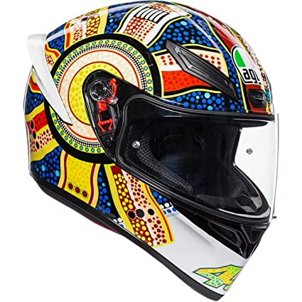 AGV Unisex-Adult Full Face K-1 Dreamtime Motorcycle Helmet Multicolor X-Large