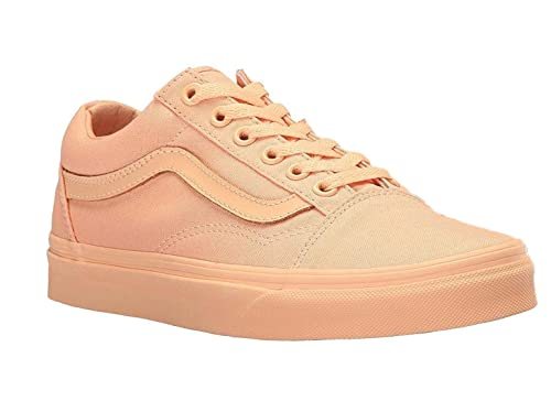 49143098c0c Vans Unisex Old Skool Mono Canvas Skate Shoes-Apricot Ice-7.5-Women ...