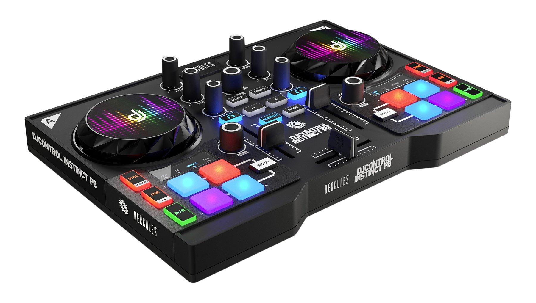 Hercules DJ 4780861 Djcontrol Instinct P8 DJ Controller, Black
