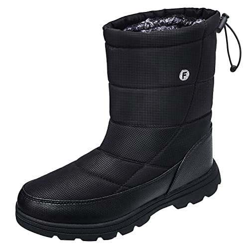 buy popular vast selection lowest price Crova Mens Womens Snow Boots Winter Lightweight Anti-Slip Waterproof Fur  Lined Cold Weather Shoes