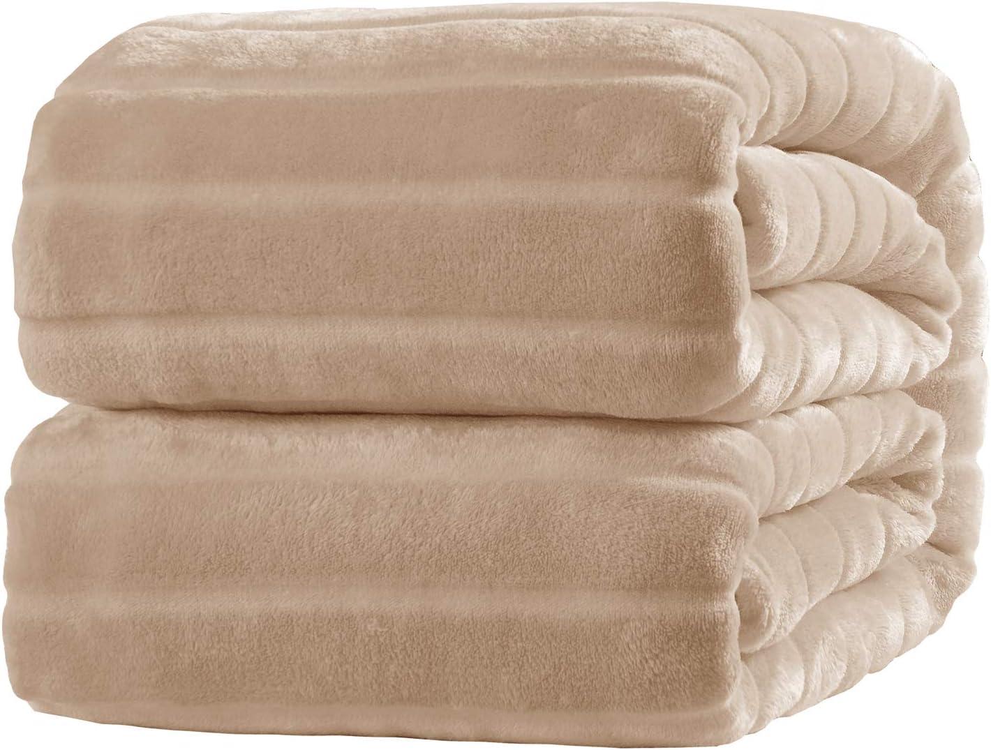 Bertte Ultra Soft Fluffy Warm Cozy Velvet Throw Blanket, 50