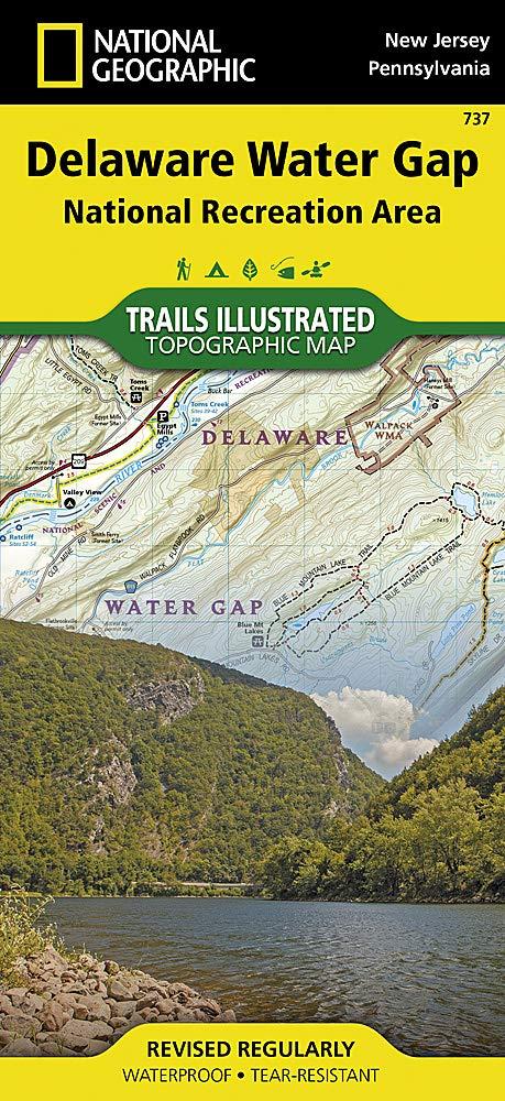 map delaware water gap Delaware Water Gap National Recreation Area National Geographic map delaware water gap