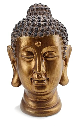 Smiling Meditating Buddha Shakyamuni Head Statue 8 Tall Blessing Mercy Love Peaceful G16632 Feng Shui Idea – We Pay Your Sales Tax