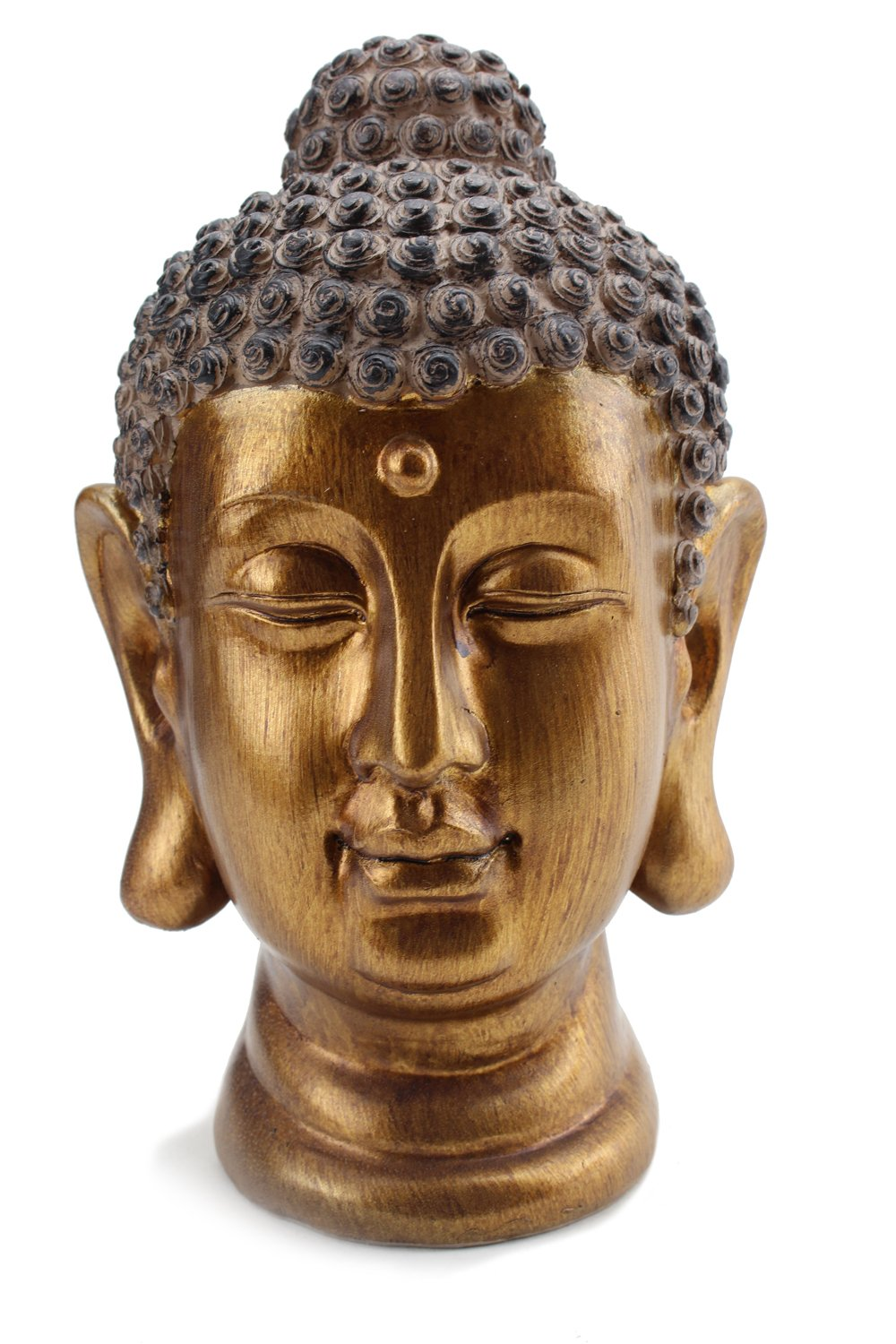 Smiling Meditating Buddha Shakyamuni Head Statue 8'' Tall Blessing Mercy & Love Peaceful (G16632) Feng Shui Idea - We Pay Your Sales Tax