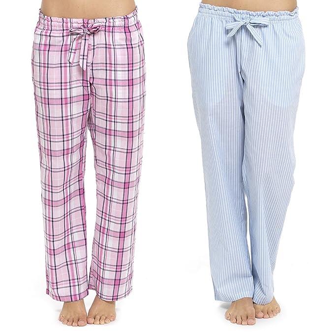 Pantalones ligeros de pijama para mujer para estar en casa, tejidos, para llevar por