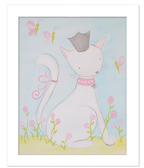 Amazon.com: Doodlefish DB1580-White Katy Cat Artwork, White Frame ...
