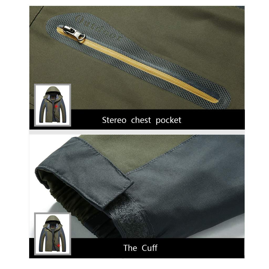 CFYTH Giacca a Vento da Uomo Outdoor Hiking Giacca Antivento Impermeabile con Cappuccio Sportwear Moda Casual Traspirante Impermeabili Caldi di Grandi Dimensioni