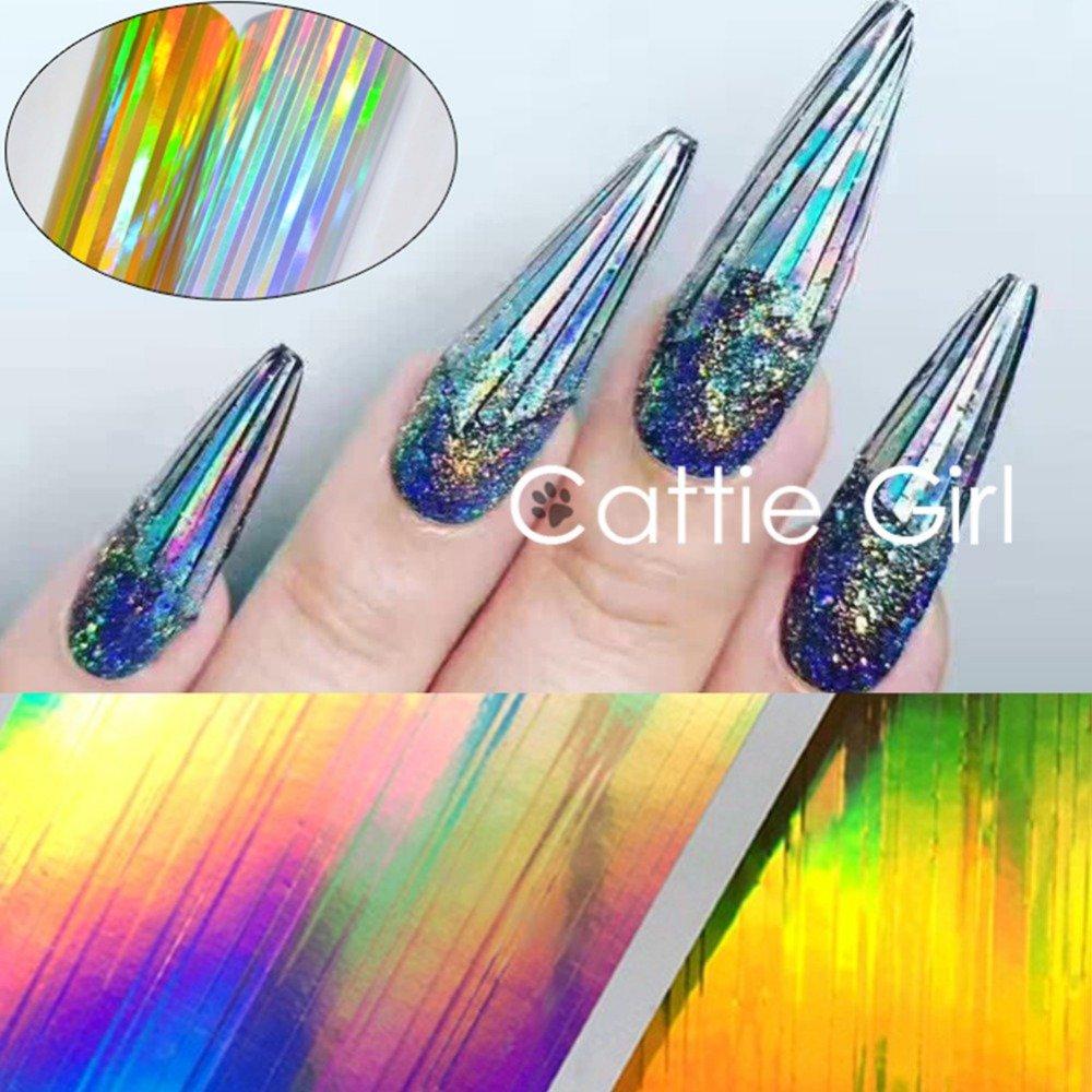 Amazon.com : BORN PRETTY Nail Art Holographic Foil Sticker Starry ...