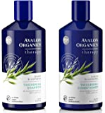 Avalon Organics All Natural Biotin B-Complex Therapy Thickening Shampoo and Conditioner For Hair Loss and Thinning Hair With Aloe, Lavender and Peppermint, Sulfate and Paraben Free, 14 fl. oz. each