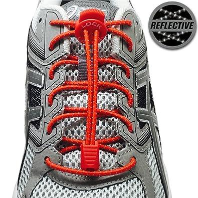 online store wholesale price best wholesaler LOCK LACES Reflective (Elastic No Tie Shoelaces) (Racing Red ...
