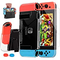 AISITIN Compatible with Nintendo Switch Case Dockable Clear Protective Case Cover for Nintendo Switch and Joy-Con…