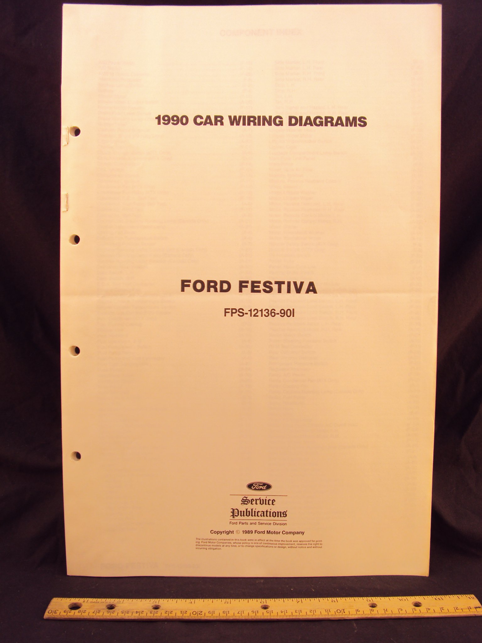 1990 ford festiva electrical wiring diagrams schematics ford1990 ford festiva electrical wiring diagrams schematics loose leaf \u2013 january 1, 1989