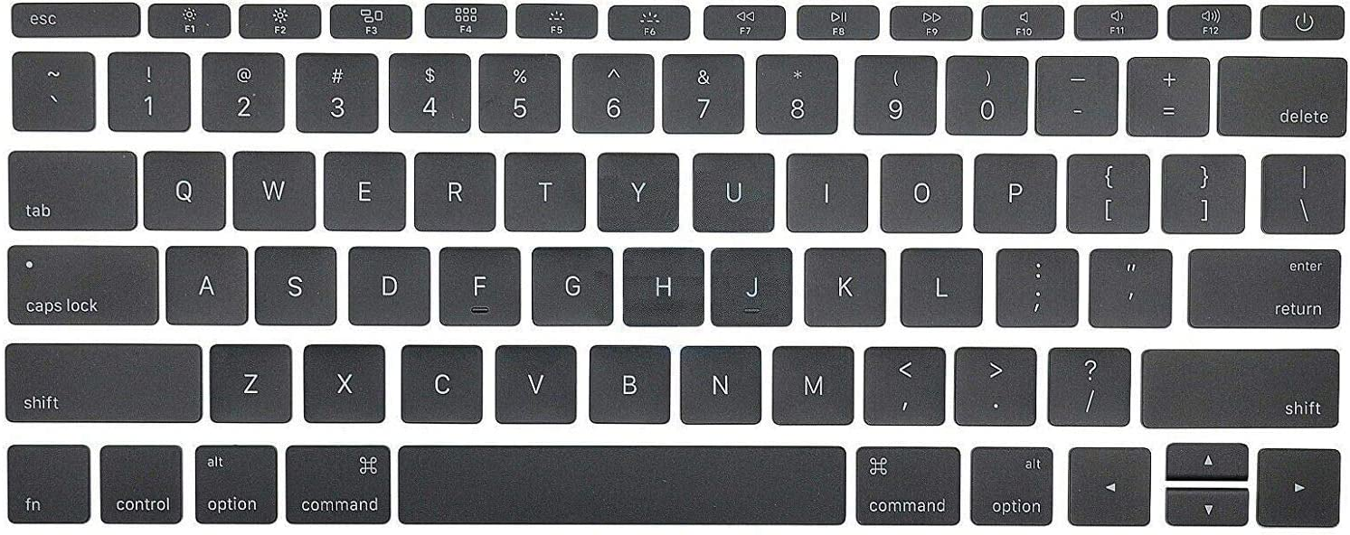 """Padarsey Replacement Individual Key Cap Set US Keyboard Replacement Keycaps Keys QWERTY for MacBook Pro Retina 12""""/13""""/15"""" A1534 2017 A1706 A1707 A1708 2016 2017"""