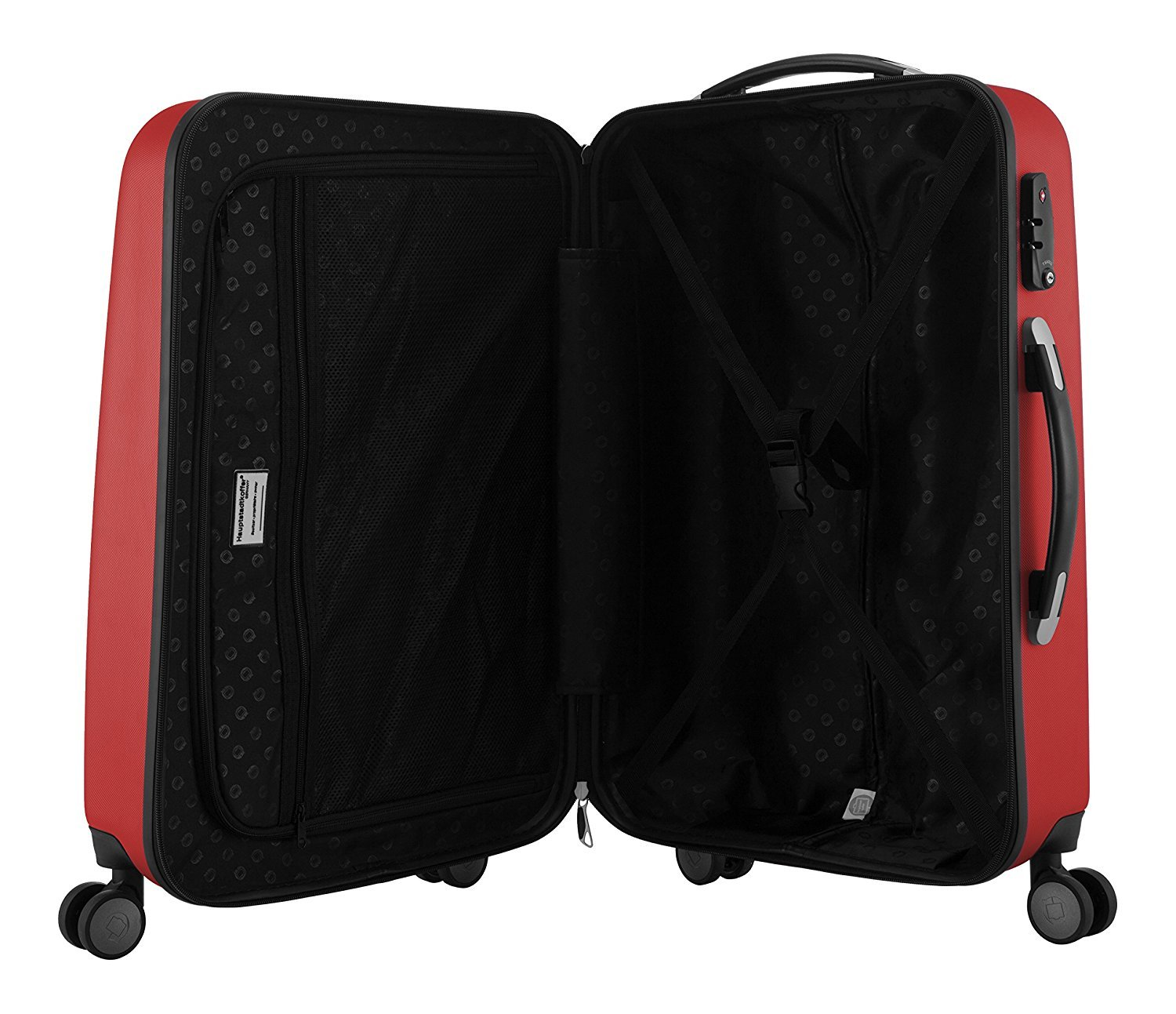"HAUPTSTADTKOFFER - Wedding - Set of 3 Hard-side Luggage Glossy Suitcase Hardside Spinner Trolley Expandable (20"", 24"" & 28"") TSA Red by Hauptstadtkoffer (Image #5)"