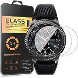 [3-pack] Samsung Gear S3Frontier protection d'écran, Sundatom Samsung Smartwatch Verre [résistant aux chocs] [anti-rayures] Coque de protection d'écran en verre trempé pour Gear S3classique