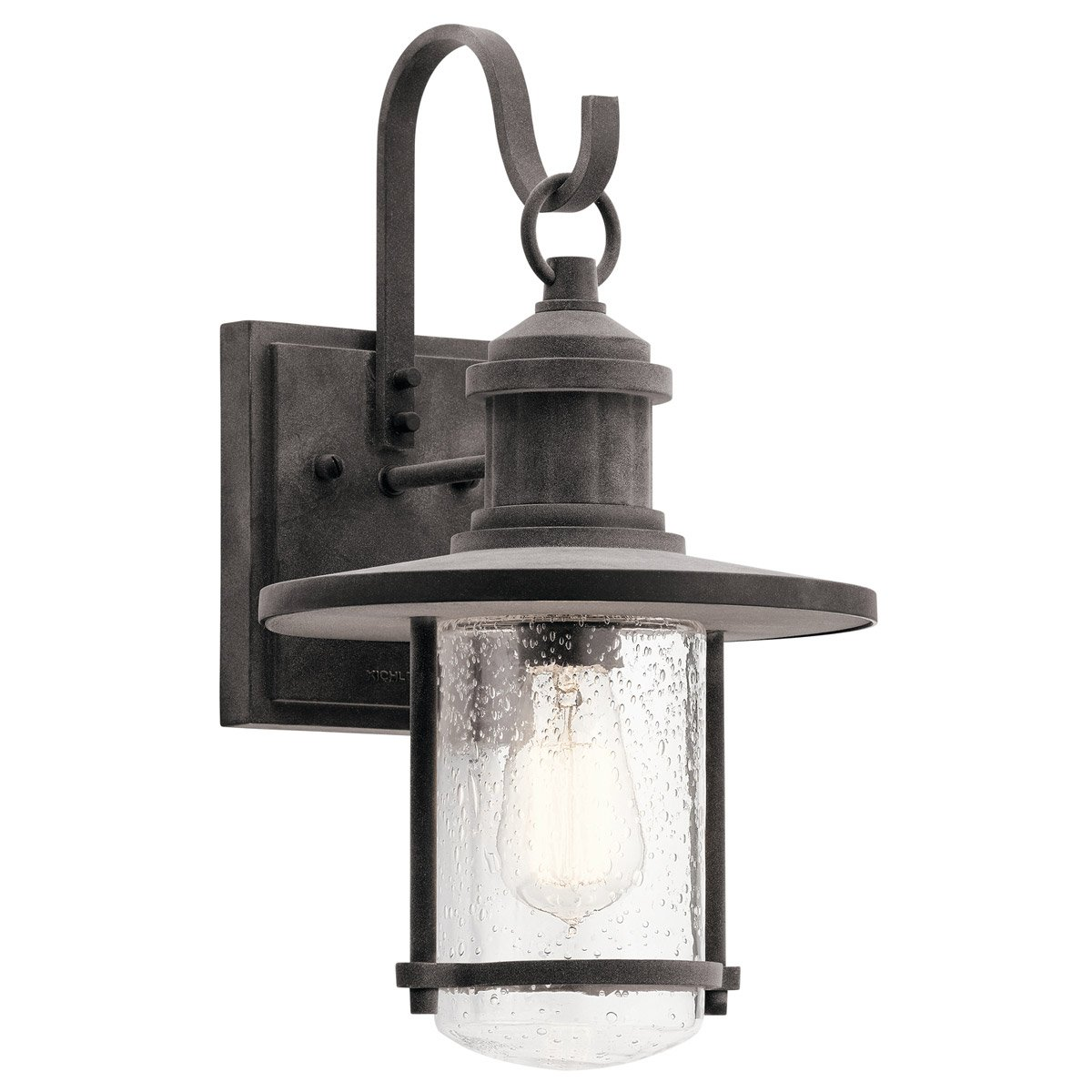 Kichler 49193WZC Riverwood 16.75'' Outdoor Wall Sconce in Weathered Zinc