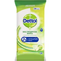 Dettol Multipurpose Antibacterial Disinfectant Surface Cleaning Wipes Crisp Apple 120pk