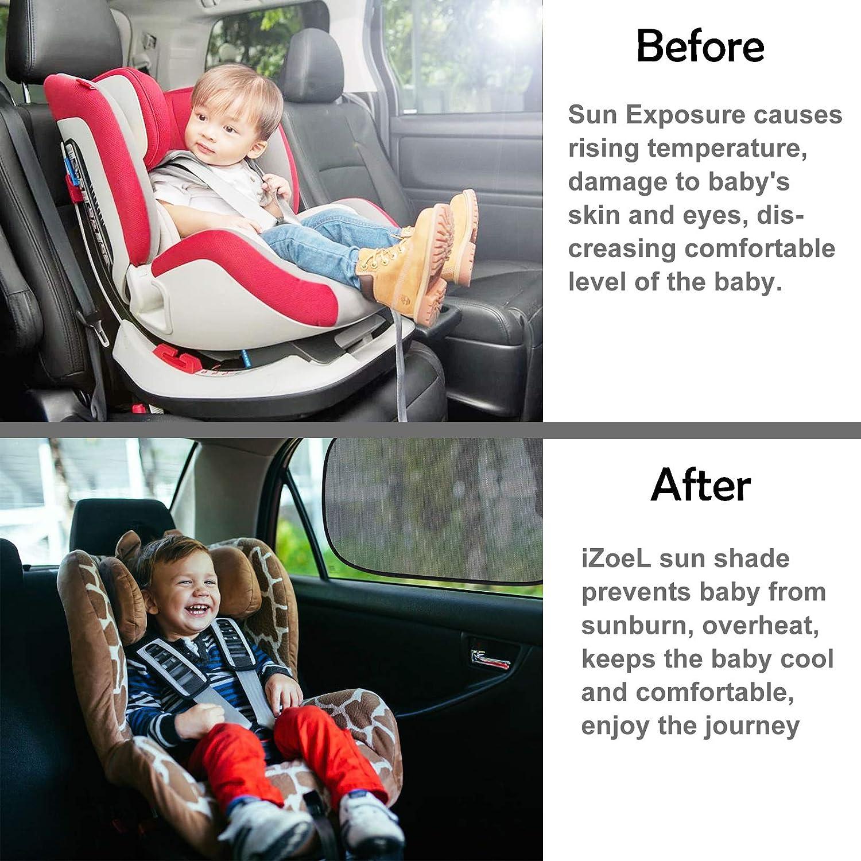 XL f/ür gro/ße Seitenfenster iZoeL Auto-Sonnenschutz f/ür Babys Kinder