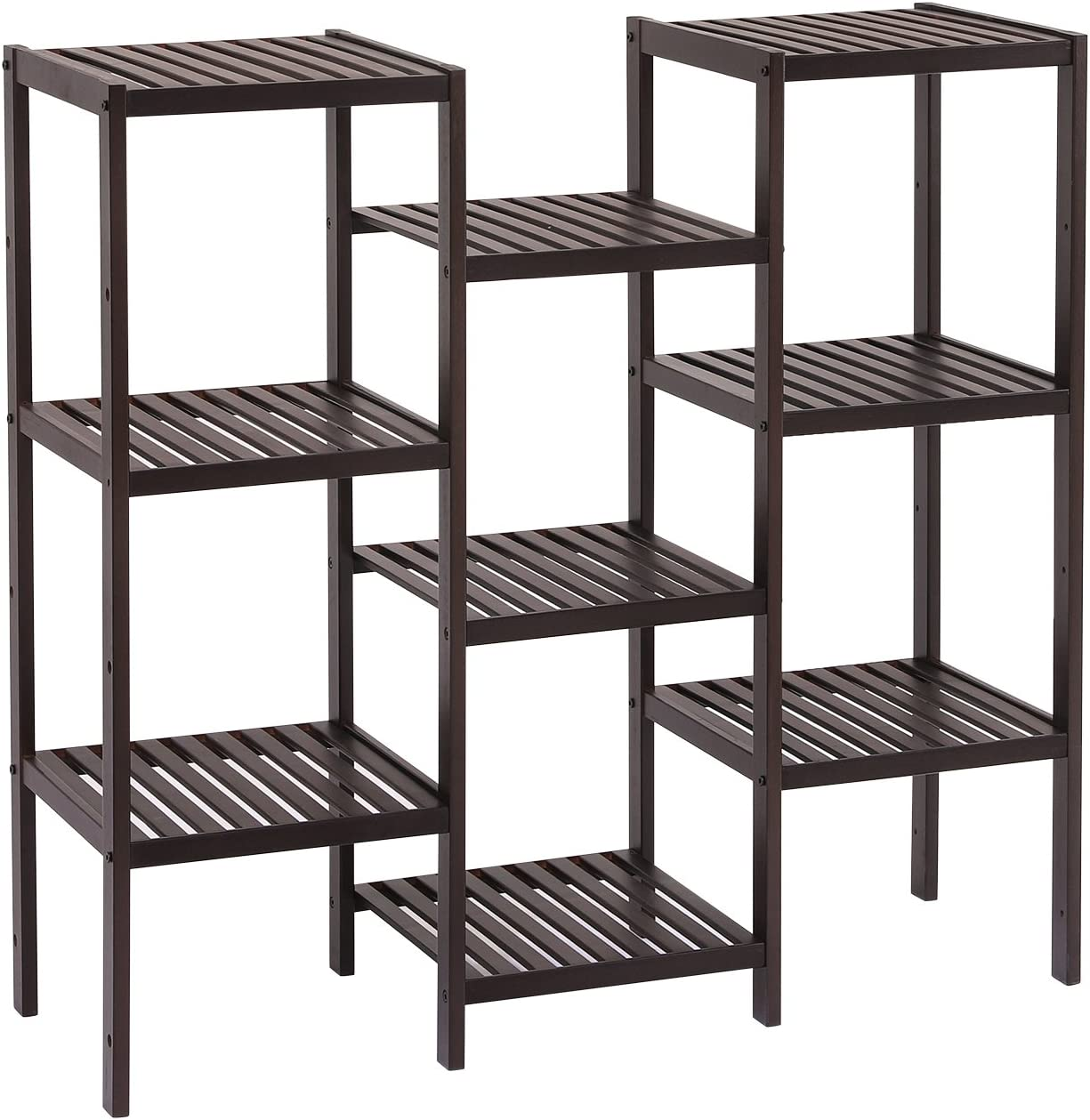 5 Shelves 1 Cabinet White Shoe Storage Rack Organizer Stand Slim Shelf Display